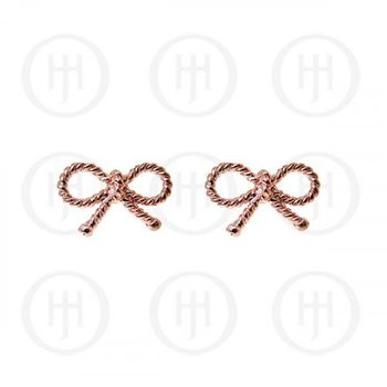 925 Rose Gold Plated Bow Earrings