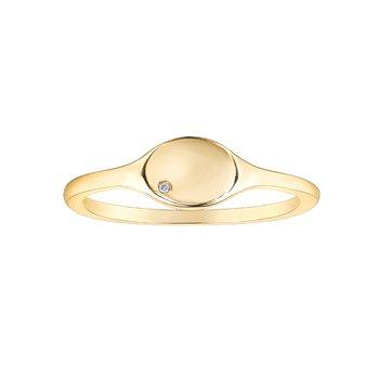 10K Oval Signet Ring
