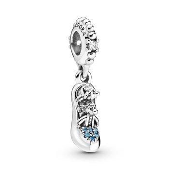 Disney, Cinderella Glass Slipper & Mice Dangle Charm