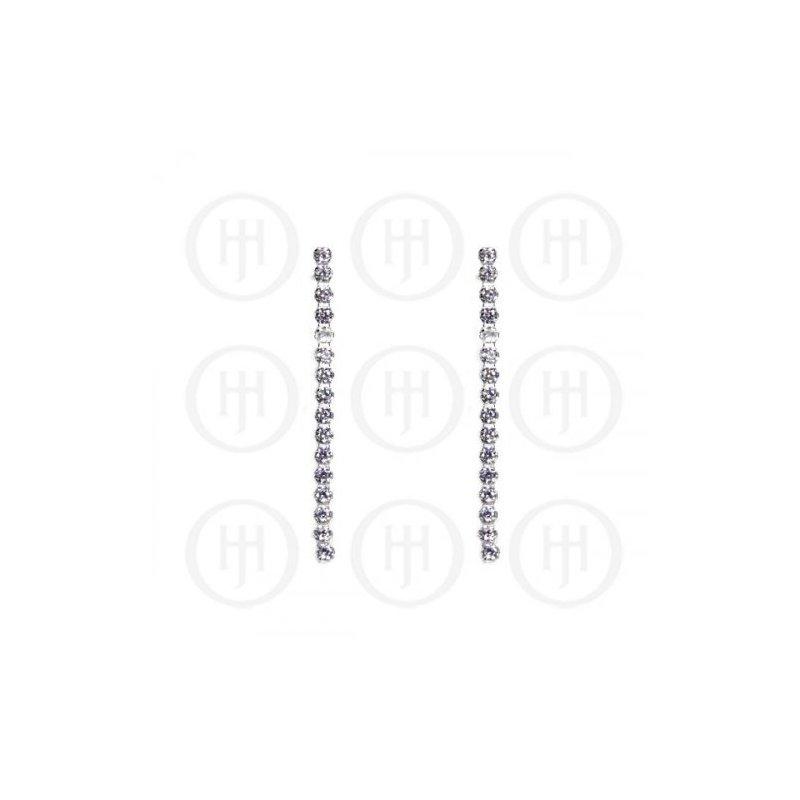 House of Jewellery Sterling Silver CZ Drop Earrings