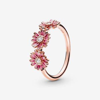 Pink Daisy Trio Flower Ring