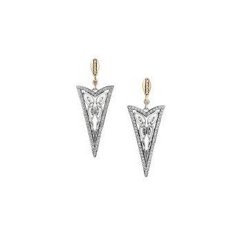 'Butterfly Gateway' Sterling Silver & 10K Yellow Gold Earrings