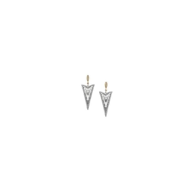 Keith Jack 'Butterfly Gateway' Sterling Silver & 10K Yellow Gold Earrings