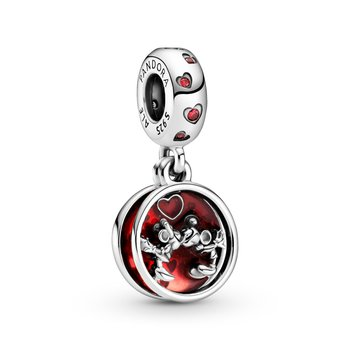 Disney, Mickey Mouse & Minnie Mouse Love and Kisses Dangle Charm
