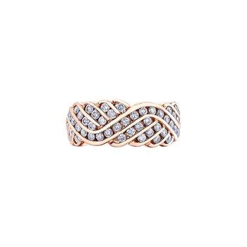 10 karat rose gold dinner ring 1.00ct tw