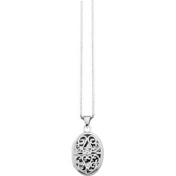 Oval Locket Diamond Pendant