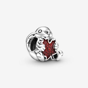 Canadian Beaver & Maple Leaf Charm