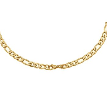 """Gold IP Figaro Link Chain - 20"""""""