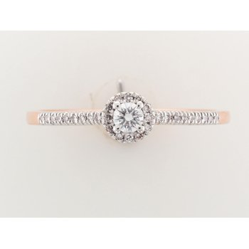 14K Halo Engagement Ring, 0.20 TDW