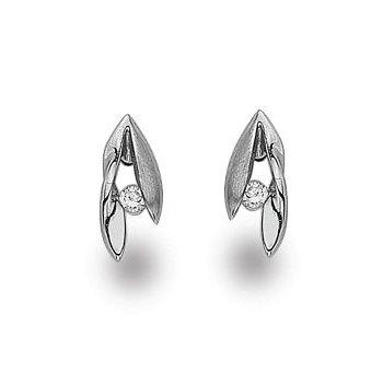 """""""Leaf Twist"""" Diamond Earrings"""