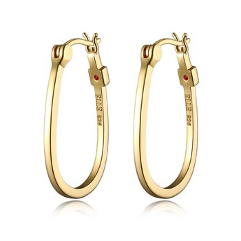 ELLE Sterling Silver Earrings with Gold Plated Finish