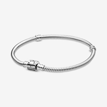 "Moments New Barrel clasp Snake Chain Bracelet, 6.3"""