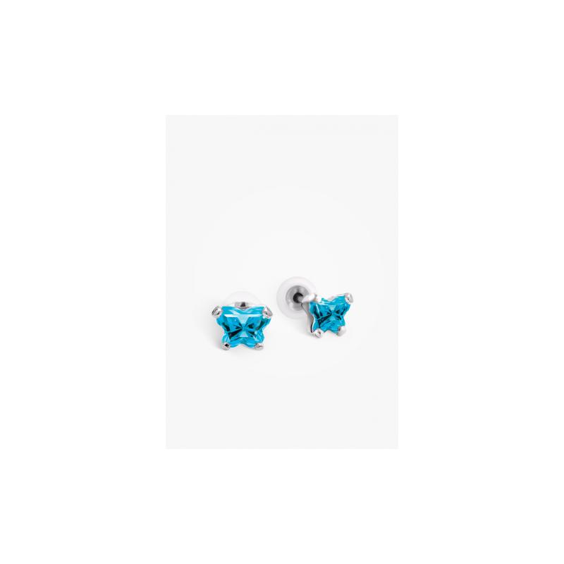 Bfly December Birthstone Earrings