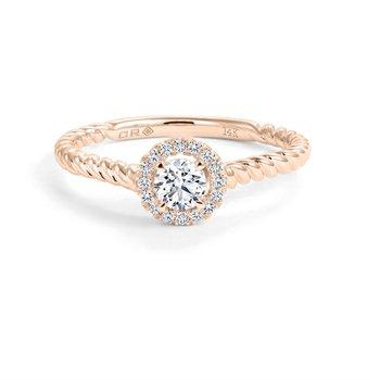 14K Halo Engagement Ring, 0.30 TDW