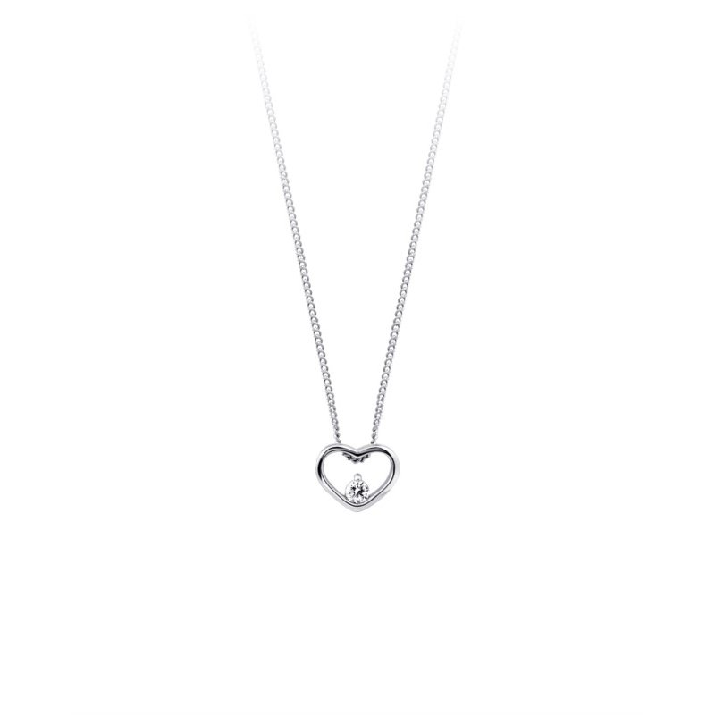 Love It! 10K Diamond Heart Pendant, 0.04 TCW