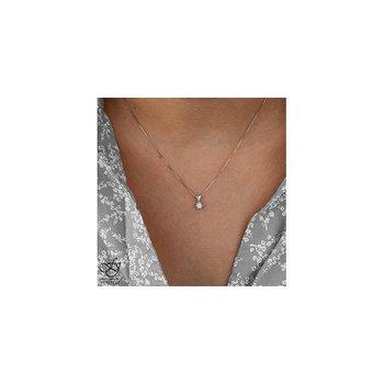 10K Solitaire Diamond Pendant