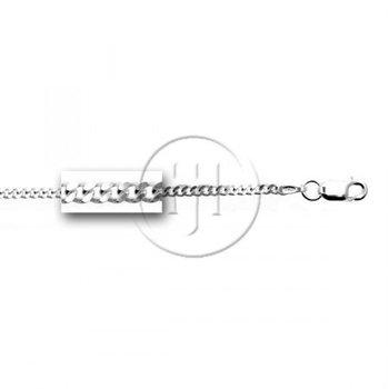 """925 Silver Curb Chain, 18"""""""