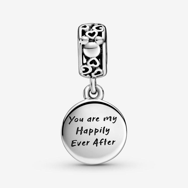 Pandora Disney, Mickey Mouse & Minnie Mouse Happily Ever After Dangle Charm
