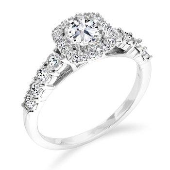 14K Multi Stone Engagement Ring, 0.60 TDW
