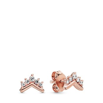 Tiara Wishbone Stud Earrings