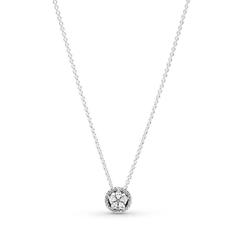 "Pandora Sparkling Snowflake Collier Necklace, 17.7"""