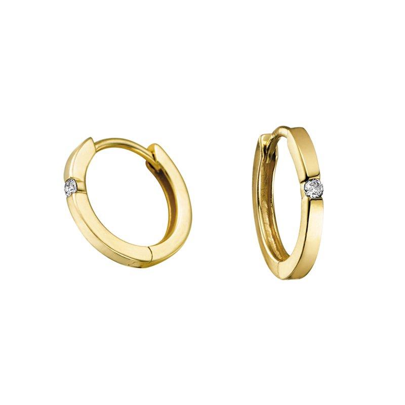 Forever Jewellery 10K Diamond Hoop Earrings