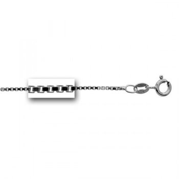 """Sterling Silver Box Link Chain - 18"""""""