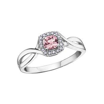 10K June Birthstone Halo Ring
