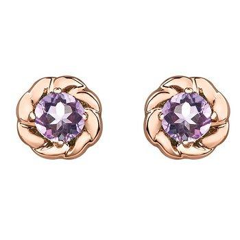 10K Lilac Amethyst Studs