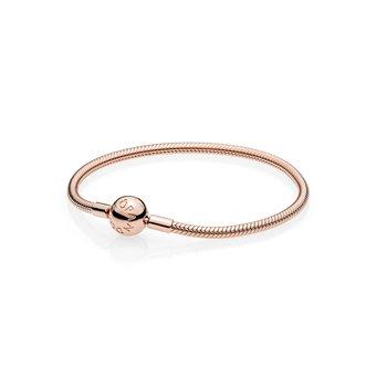"Moments Rose Smooth Snake Chain Bracelet, 6.7"""