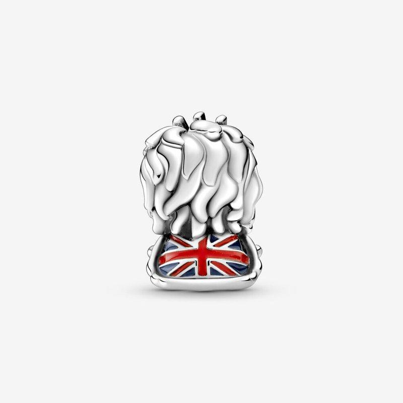 Pandora Wavy Union Jack Lion Charm