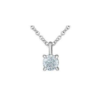 14K Lab Grown Diamond Pendant, 0.52