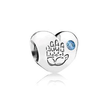 Baby Boy Handprint Charm