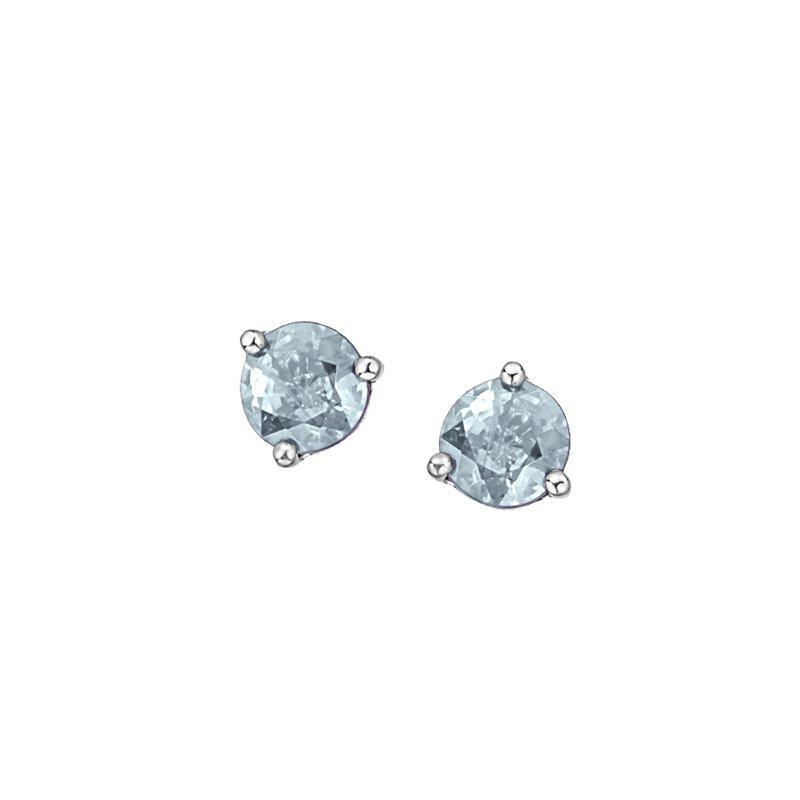 Diamond Days 10K March Birthstone Earring
