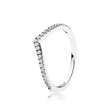 Sparkling Wishbone Ring, size 9.0