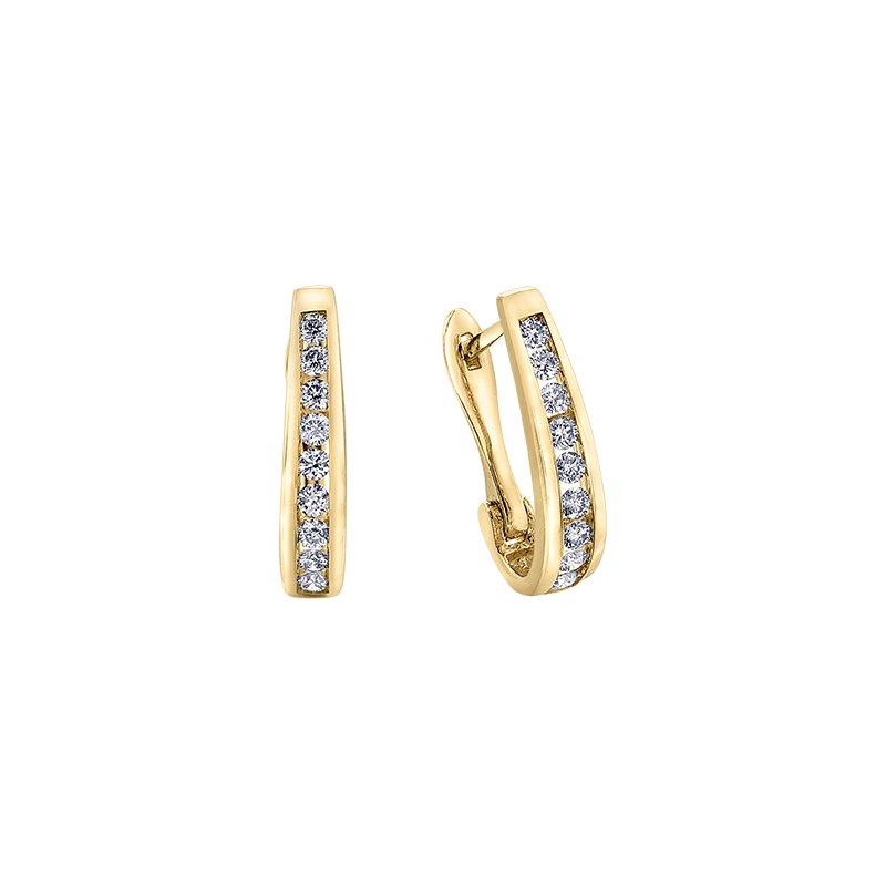 Forever Jewellery 10K Diamond Huggies, 0.10 TDW