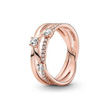 Sparkling Triple Band Ring, size 6.0