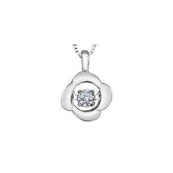 10K Pulse Diamond Pendant