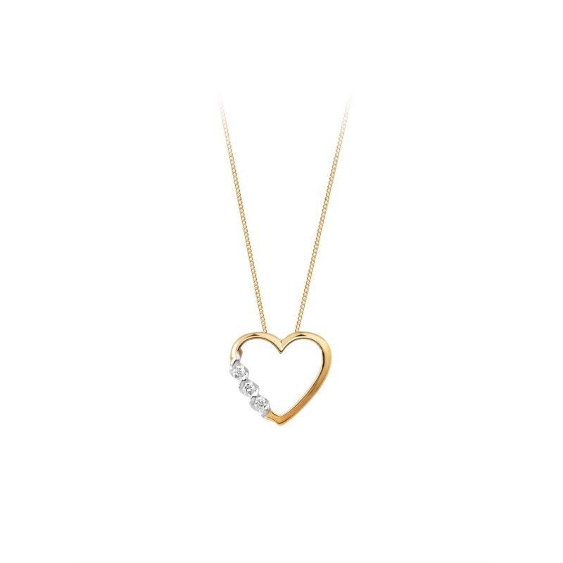 Love It! 10K Diamond Heart Pendant, 0.06 TCW