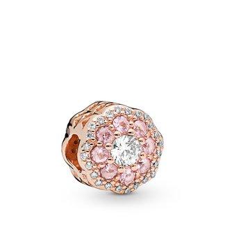 Pink Sparkle Flower Charm - FINAL SALE