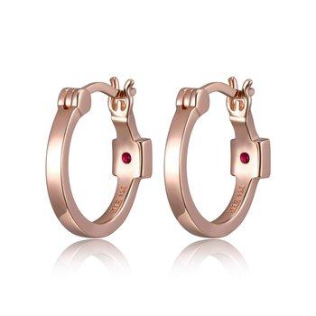 Rose Gold Plated Silver Hoop Earrings