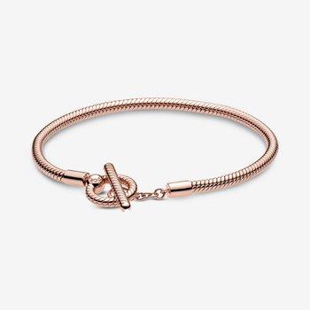 """Moments T-Bar Snake Chain Bracelet, 7.1"""""""