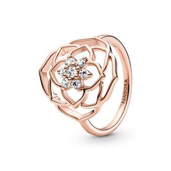 Rose Petals Statement Ring, size 8.5