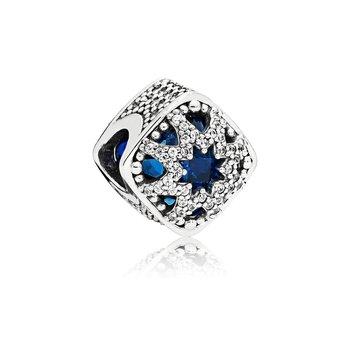 Square Blue Star Charm