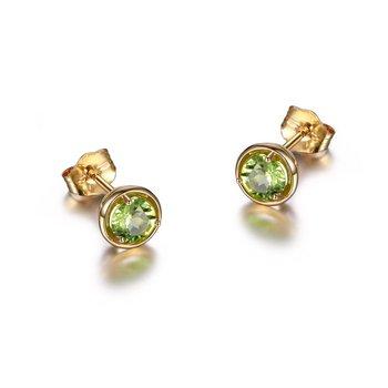 10K Gold August Birthstone Earrings