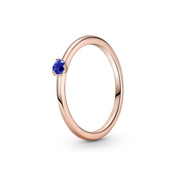 Stellar Blue Solitaire Ring, size 7.5