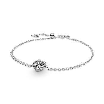 """Heart Family Tree Chain Bracelet, 7.9"""" (Adjustable Smaller)"""