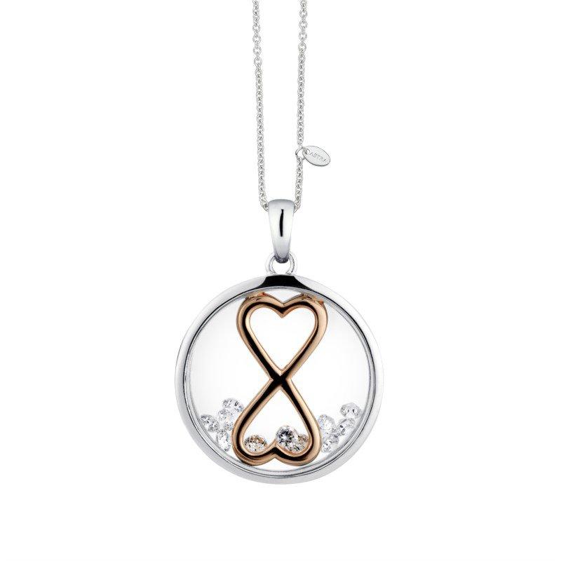 ASTRA Jewellery Infinity Heart Pendant, 16mm
