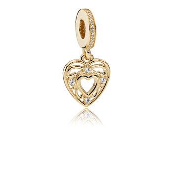 Romantic Heart Pendant Charm - FINAL SALE