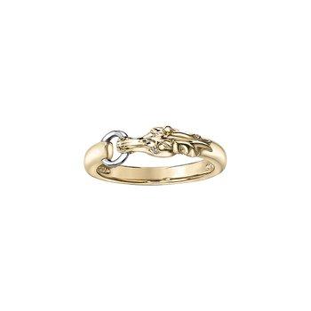 10k Diamond Horse Ring